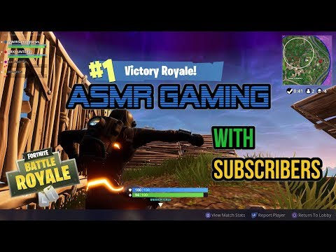 ASMR Gaming | Fortnite Battle Royale 19th Win With Subscribers! ★Controller Sounds + Whispering☆
