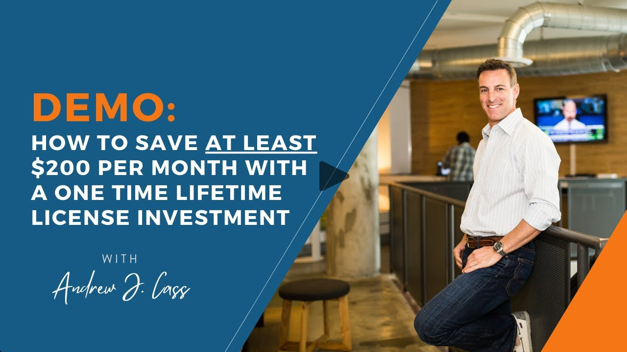 Demo: How To Save AT LEAST $200 Per Month With A ONE TIME Lifetime License Investment