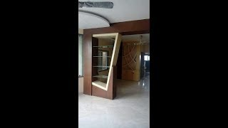 Partition design between Living dining kitchen.#2#.By Wood working idea