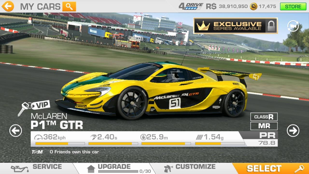 real racing 3 - mclaren p1 gtr upgrades - youtube