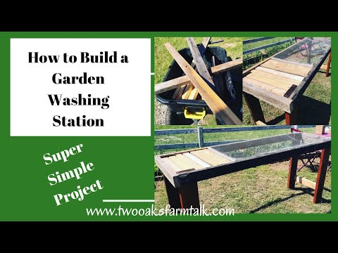 Expert How-to; Build an Easy DIY Garden Washing Station 1