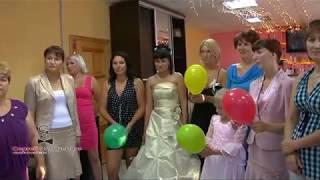 Веселая игра - конкурс на свадьбе, юбилее для взрослых «Перестрелка с шариками». Видео №20 из 23.