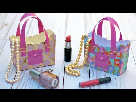3D Paper Purse Tutorial for Mother's Day 🌸 DIY Gift Box