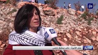 الفلسطينيون يواجهون قلع الاحتلال للاشجار بزراعة المزيد منها - (16-11-2017)