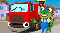 Fiona The Fire Truck Song SING ALONG | Nursery Rhymes & Kids Songs | Gecko's Garage