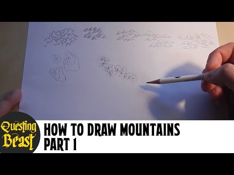 How to Draw Mountains - Part 1: Fantasy Map Making Tutorial for D&D