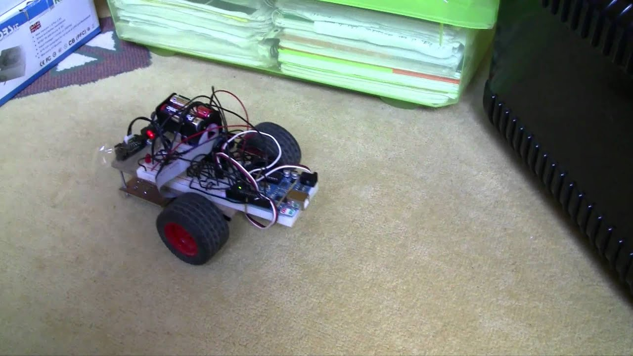 Arduino y pequeño robot esquiva obstaculos youtube