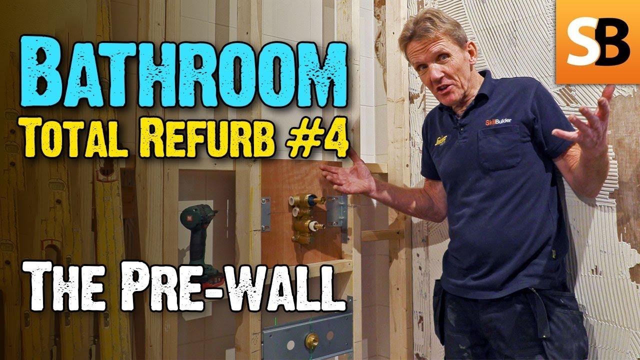 Bathroom Renovation #4 - Stud Pre-wall - YouTube