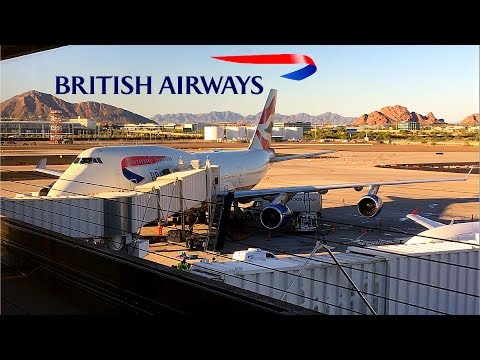 British Airways | 747-400 | Phoenix, AZ (Sky Harbor) ✈ London Heathrow | Club World |