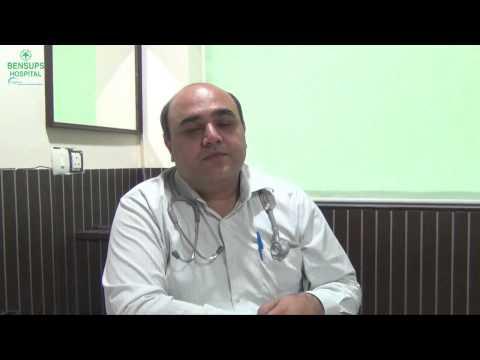 Dr. Rahul Kapahi explaining about Allergic Rhinitis at Bensups Hospital, Dwarka, Delhi.