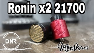 Ronin x2 21700 Mech Mod & RDA By DripnRevolution - Mike Vapes