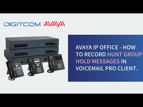 Avaya IP Office -  How to record huntgroup hold messages in Voicemail Pro client.