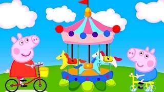 Свинка Пеппа и Джордж на Велосипеде Свинка Пеппа все серии подряд мультфильма игр ChildrenTV