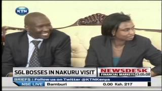 SG senior management visit Nakuru governor