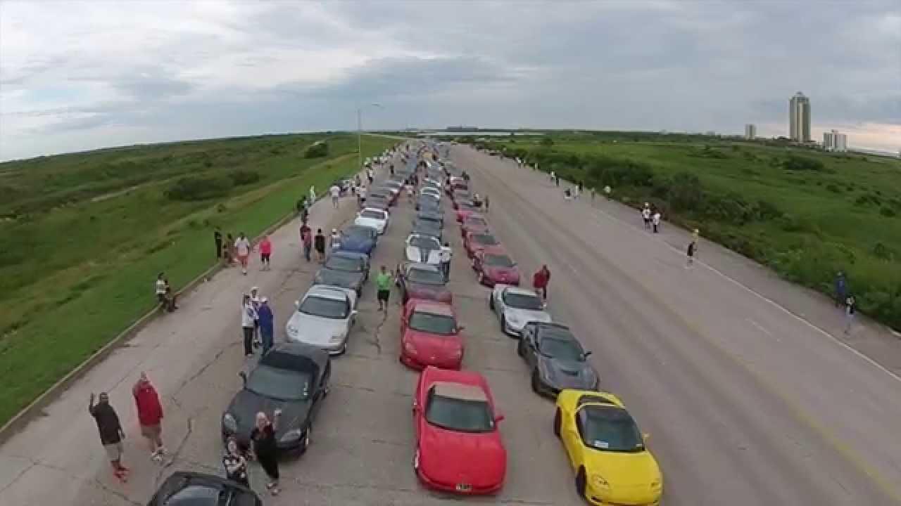 St Annual Corvette Cruising Galveston YouTube - Galveston cruises 2015