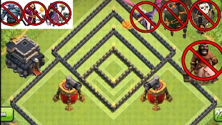 CLASH OF CLANS -TOWN HALL 9 ( TH 9 ) WAR BASE UNIQUE ANTI 2 STARS, ANTI 3 STARS