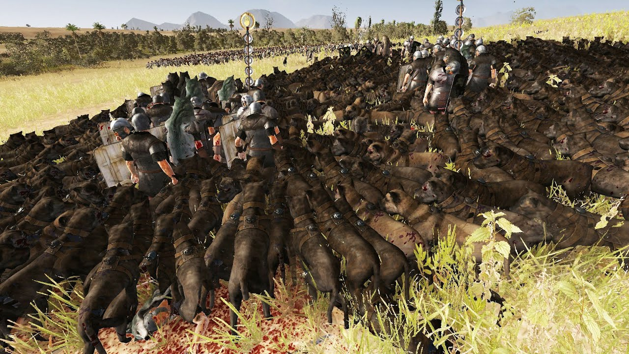 300 romans vs 5000 dogs massive battle total war rome 2 movies