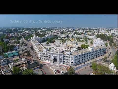 Sachkhand Sri Hazur Sahib Aerial View | Nanded | Sikh Gurudwara |