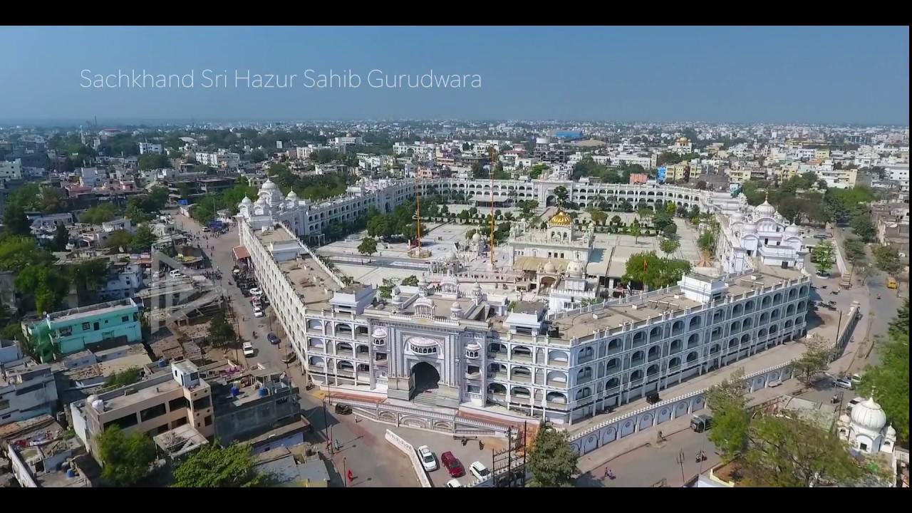 Download Sachkhand Sri Hazur Sahib Aerial View   Nanded   Sikh Gurudwara  