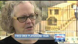 Park Employee Fired Over Playground Wooden Train