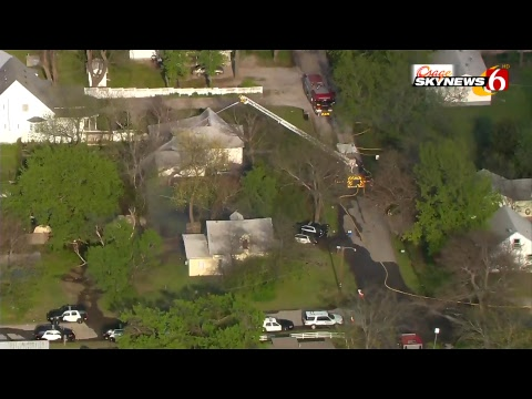 House Fire at Police Standoff