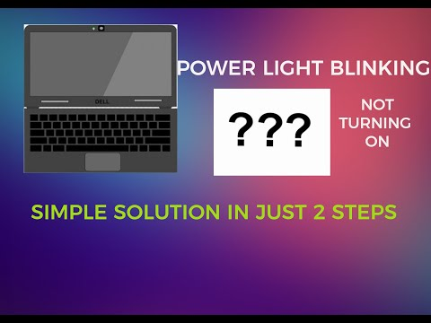 dell laptop power led blinking but not turning on|| simple