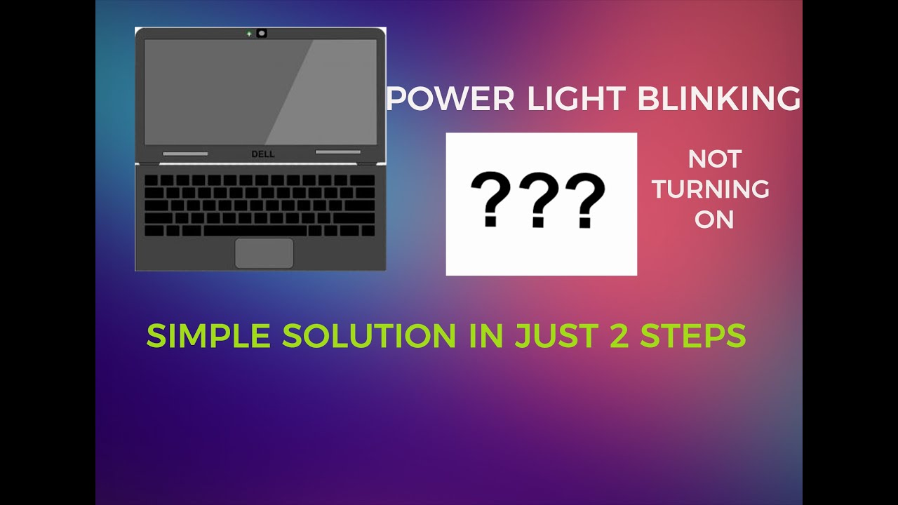 dell laptop power led blinking but not turning on|| simple solution in urdu  and hindi