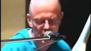 "Morgan Fisher sings ""All the Young Dudes"" at Pousse Cafe party. 1998."