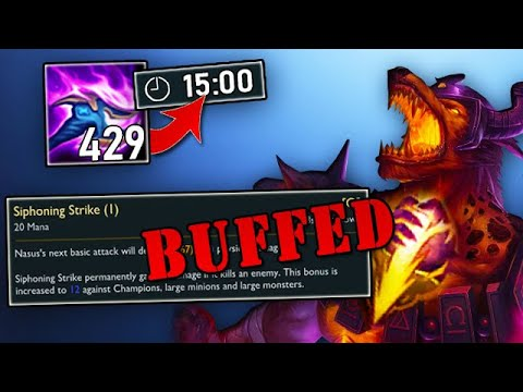 This Nasus buff CANNOT make it to live servers... what was Riot thinking?? (Jungle Nasus)