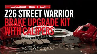 homepage tile video photo for Z26 Street Warrior Upgrade Brake Kit w/ Powder Coated Calipers & Hoses | PowerStop