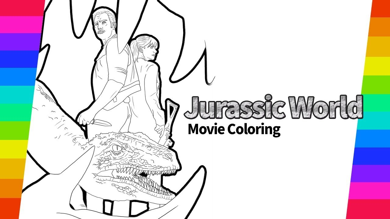 Jurassic World Movie Owen Blue Draw And Coloring How To Draw Movie Poster Youtube