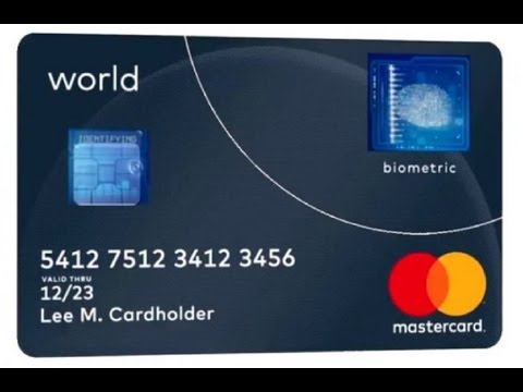 Mastercard's new credit card features an inbuilt fingerprint sensor