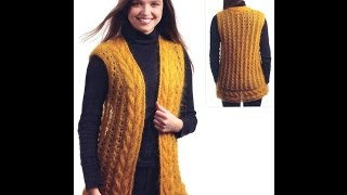 Жіноча Безрукавка-Жилет Спицями - 2019 / women's Vest Vest-spokes / Damenweste Vest-Speichen