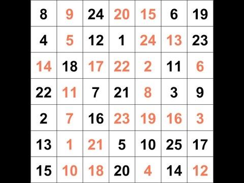 Красно-черные таблицы Шульте Горбова - Онлайн тренажер по