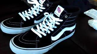 Vans Sk8 Hi Review/On Feet (pro classics model)(Black/White)