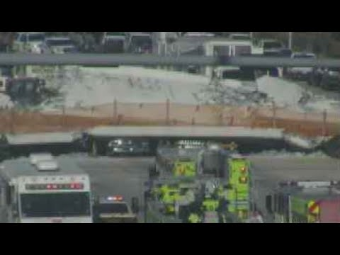 At least 6 dead after bridge collapsed onto busy Miami highway