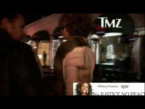 Whitney leaving resteraunt with Ray J, Van Excel and a group of men days before her death