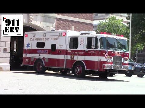Cambridge, MA Rescue 1 Responding