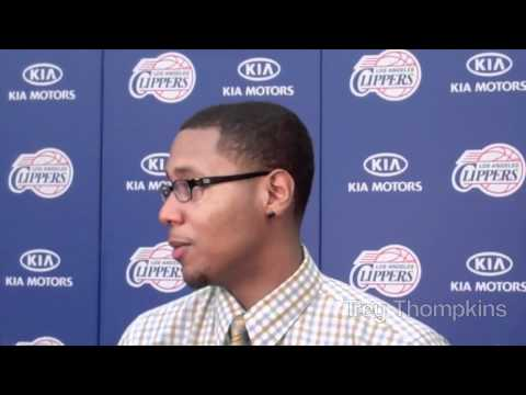 DimeTV - L.A. Clippers Introduce Rookies Trey Thompkins & Travis Leslie