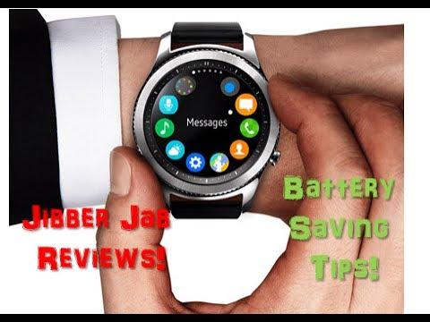 BEST Samsung Gear S3 Battery Saving Tips! MUST SEE! - Jibber Jab Reviews!