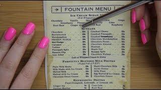 ASMR: Whisper reading Vintage menus