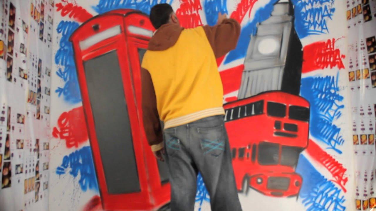 """Chambre graffiti """"london calling"""""""
