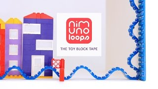 NIMUNO LOOPS - TOY BLOCK COMPATIBLE ADHESIVE TAPE