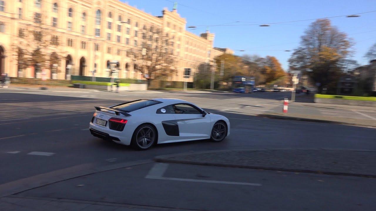 NEW 2015 WHITE Audi R8 V10 Plus - YouTube