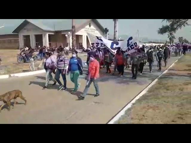 Manifestación en repudio a la celebración del 12 de Octubre
