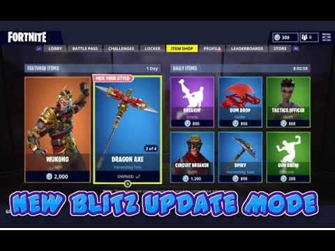 FORTNITE GAME MODE BLITZ SOLO/SQUAD/TRYING OUT DRAGON AXE/LET ME KNOW TO STREAM TONIGHT XBOX R PS4