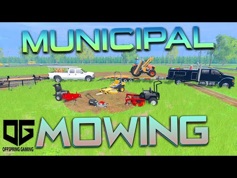 Farming Simulator 2015 - Mowing the Ball Park