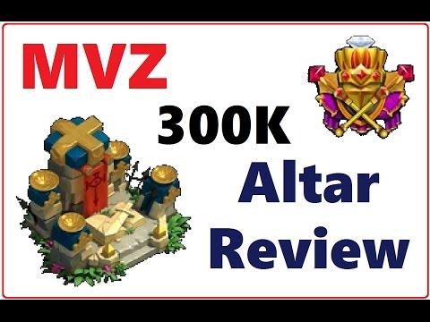 MVZ Account Altar Review 300k Might Castle Clash