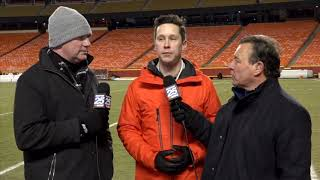 Tom Leyden, Butch Stearns and Jeff Howe with reaction to an incredible AFC Championship