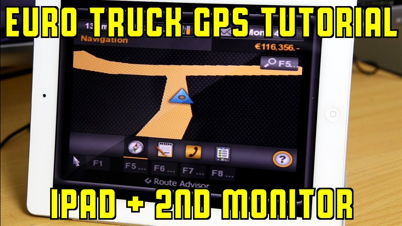Tutorial: Euro Truck Simulator 2 GPS running on iPad and external monitor